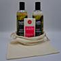 Dárková mořská sada: 2 x 400 ml šampon a kondicionér Mořská řasa Faith in nature + tuhý deodorant pro ženy 71 g Jäson + lněný pytlík
