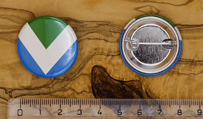 Vegan Flag špendlík, 32 mm
