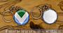 Vegan Flag přívěsek na klíče, 37 mm