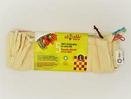Sáčky z biobavlny L 30x33 cm, 5 ks