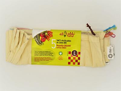 Ecodis Sáčky z biobavlny L 30x33 cm, 5 ks 2