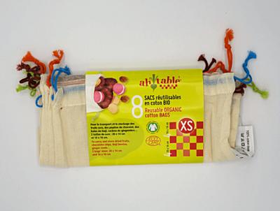 Ecodis Sáčky z biobavlny XS, 4 ks 20x14 cm + 4 ks 16x16 cm 2