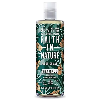 Faith For Men přírodní šampon BIO Modrý cedr, 400 ml