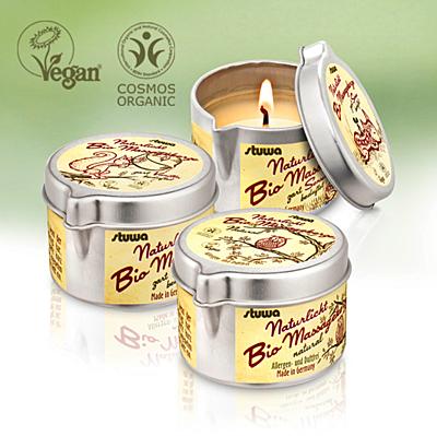 Bio masážní svíčka, vůně Senses, 100 ml
