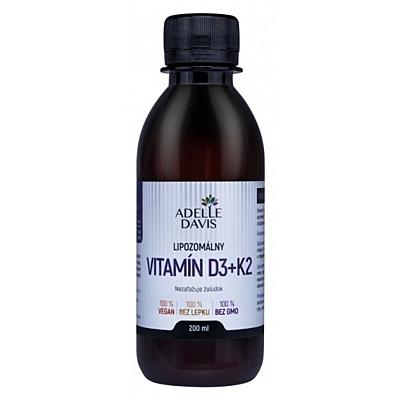 Liposomální vitamín D3+K2, 200 ml