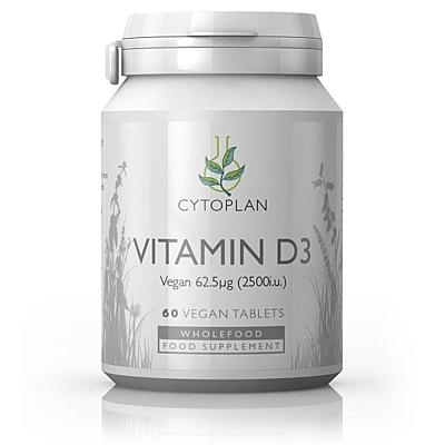 Wholefood Vitamín D3 2500 IU, 60 tablet