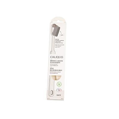 Ecodis kartáček z bioplastu s vyměnitelnou hlavou, SOFT 6
