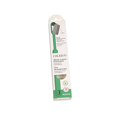 Ecodis kartáček z bioplastu s vyměnitelnou hlavou, MEDIUM 9