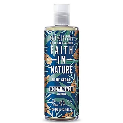 Faith in Nature sprchový gel pro muže Modrý cedr, 400 ml