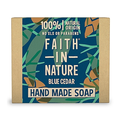 Faith For Men tuhé mýdlo Modrý cedr, 100g