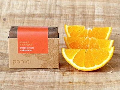 Pomeranč a eukalyptus s rakytníkem - přírodní mýdlo 100g 2