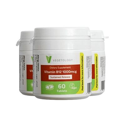 Vitamín B12, 1000 µg, kyanokobalamin, 60 tablet, sada 3 ks s dopravou zdarma
