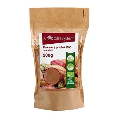 Zdravý den Kakaový prášek BIO nepražený, 200 g