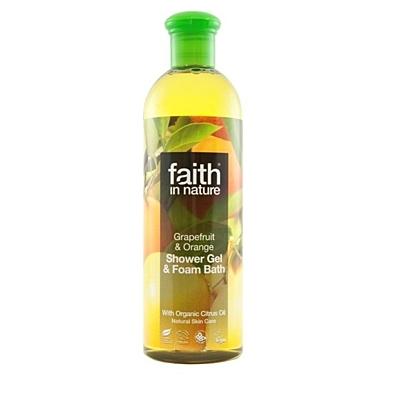 Přírodní sprchový gel a pěna do koupele BIO Grapefruit & Pomeranč, 400 ml