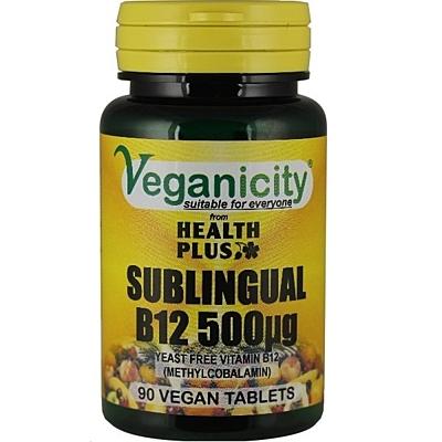 Vitamín B12, 500 µg (metylkobalamin) - sublingvální, 90 tablet