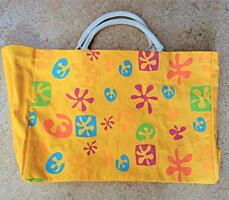 Textilní taška pro každodenní užití, oranžová s grafikou