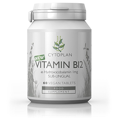 Vitamín B12, 1000 µg (hydroxokobalamin) - sublingvální, 60 tablet