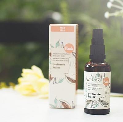 Aromaterapeutický masážní olej - uvolnění svalů, 50 ml