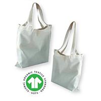 Nákupní taška z biobavlny 38 x 42 cm s krátkými uchy